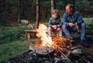 all-secure-foundation-dad-son-camping-photo