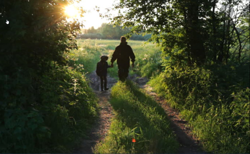 parent-child-silhouette-walking-image